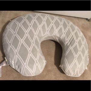 Boppy pillow with Pottery Barn Kids cover
